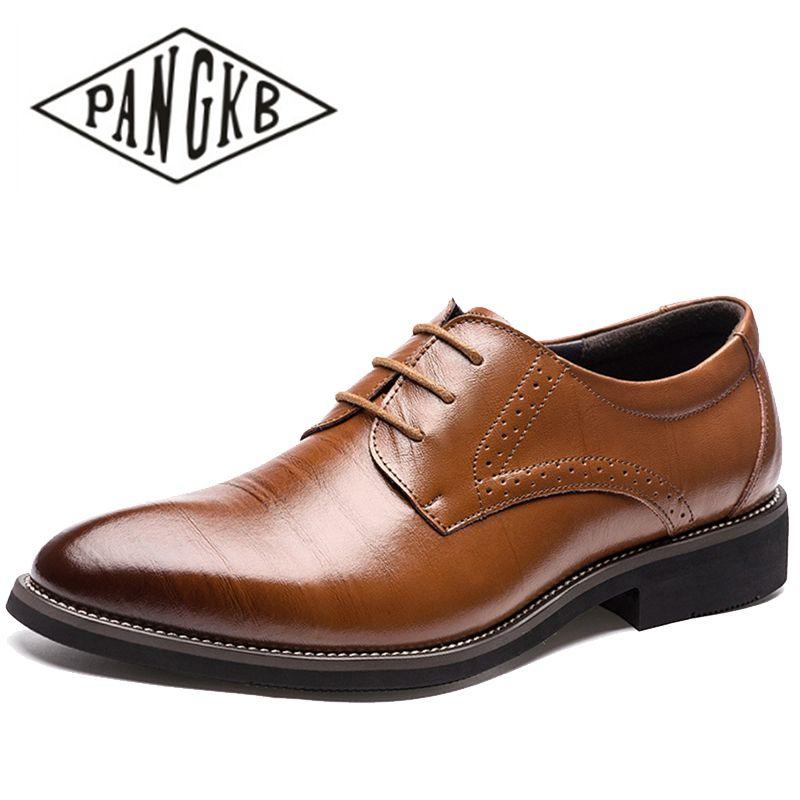 Pangkb Dos Sapatos Formais De Clássico Marrom Homens Gentis Oxfords blue brown Negócios Brown Brogues Couro Vestido Masculinos black Genuíno Bullock Light C6xCFnr