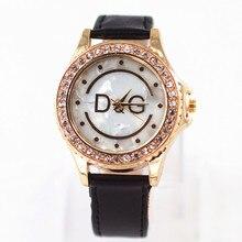 Relogio Feminino DQG Rhinestones Watch Women Watches Brand New Female Clock Lady leather Quartz-WristWatch Montre Femme