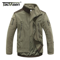 Outdoor Tactical Softshell Military Fleece Jacket Men Thermal Shark Skin Patch Camping Hunting Jackets Warm Army
