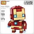 Loz ironman iron man figura de anime juguetes diy kit de montaje modelo bloques de construcción avengers superhéroes figuras diy acción lindo 1402