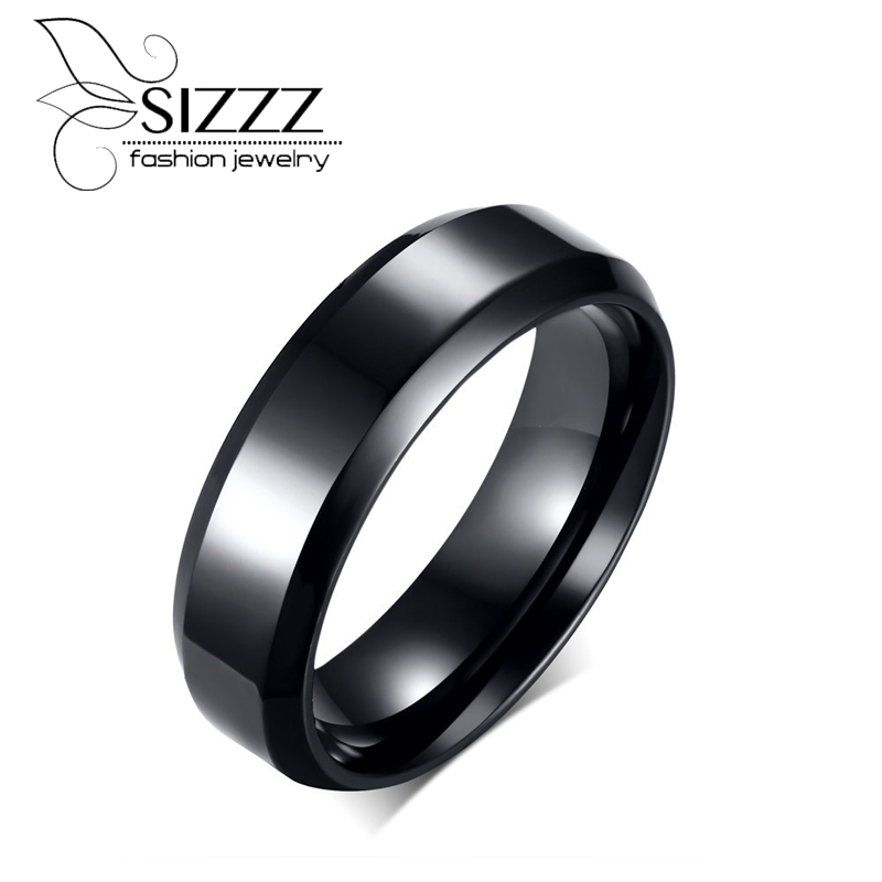 SIZZZ Gold Silver Black Gun Plated Womens Ring Stainless Steel Women Rings Jewelry