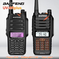 10W 4800mAh Baofeng UV 9R PLUS Waterproof Walkie Talkie Radio 10KM Dual Band Ham CB Radio Station VHF UHF HF Transceiver UV 9R