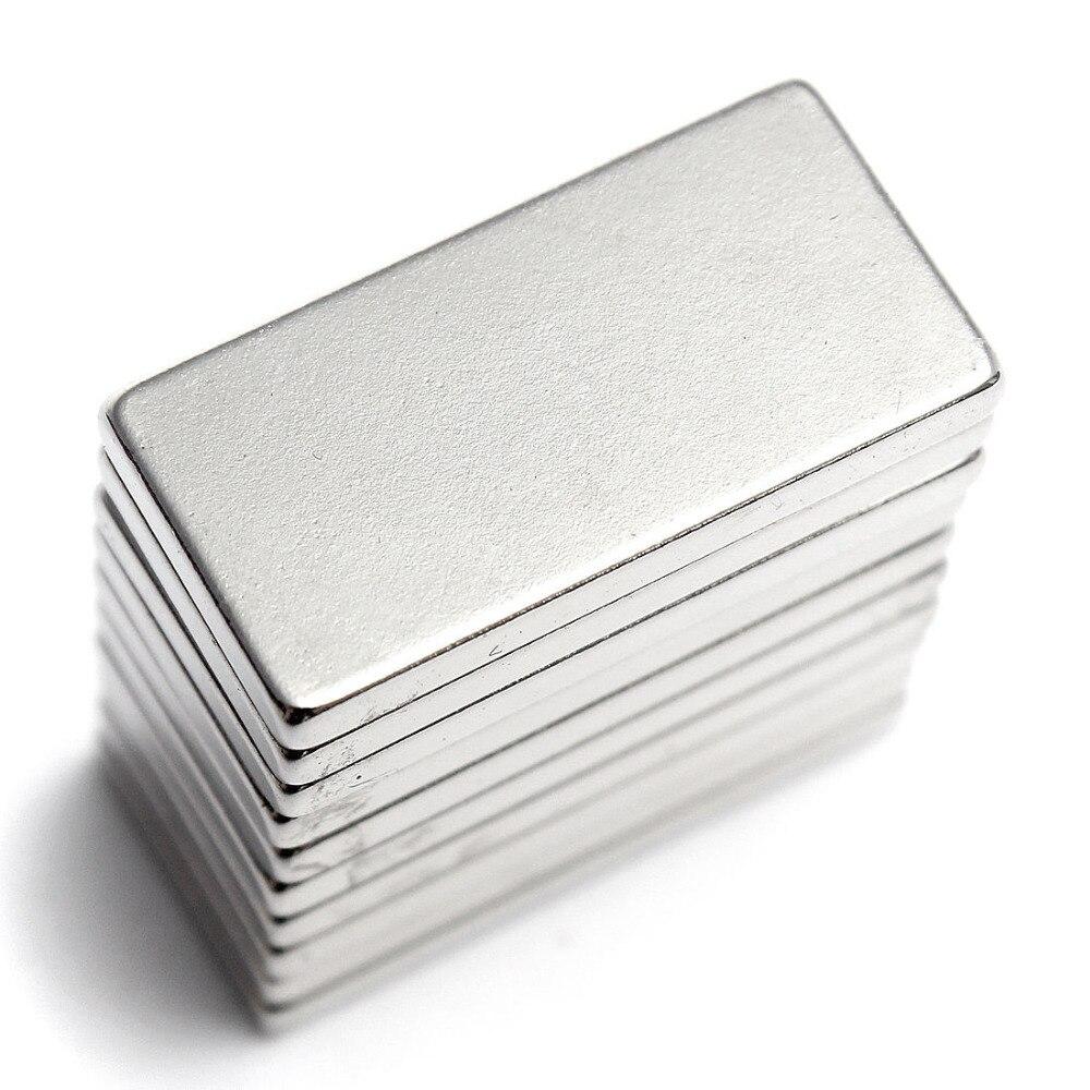10pcs N52 20x10x2mm Aimant de Bloc en Neodyme Terre Rare