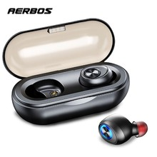 AERBOS Wireless  Earphone Bluetooth 5.0 Noise Canceling Headset E Deep Bass Hi-fi Stereo Waterproof Sports Earbuds For Iphone 8 hot selling g20 noise canceling e sports games earphone sports headphones heavy bass high end magnet headset 3 5mm plug pk v2 page 7