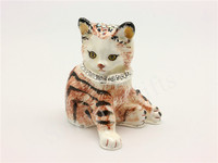Cute Cat Animal Trinket Box Bejewelled Metal Decorative Gift Box Wedding Favor