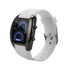 af58e573d26 Mens Relógios Relógio Digital de Luz LED Flash Relógio Turbo Medidor de  Velocímetro Sports Car Dial