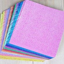 """50 шт./компл. квадратный бумаги оригами на одной стороне блестящие складные сплошной цвет бумаги для детей """"сделай сам"""" скрапбукинг украшения"""