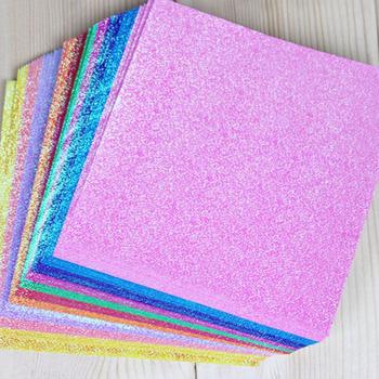 50 sztuk zestaw kwadratowy papier origami jednostronnie lśniące składane jednokolorowe papiery dzieci Handmade DIY scrapbooking rzemiosło dekoracji tanie i dobre opinie Square Origami Paper