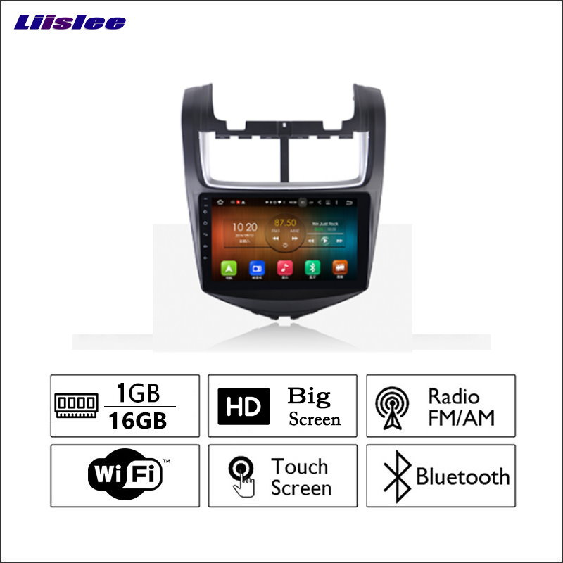 Liislee For Chevrolet sonic 2014~2017 Car Radio GPS Audio Video Multimedia Player WiIFi DVR Navigation Android System No CD DVD