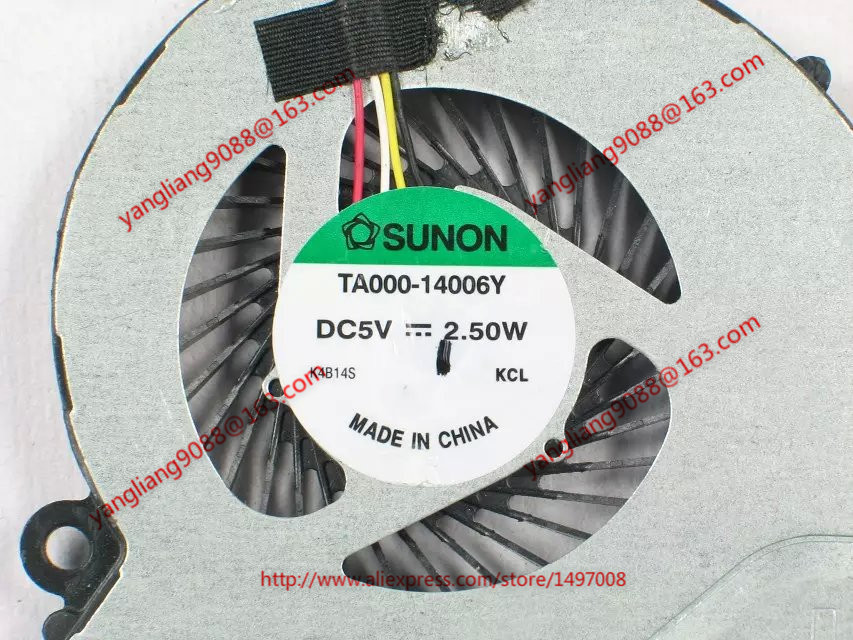 Free Shipping For SUNON TA000-14006Y DC 5V 2.5W 4-wire 4-pin connector 60mm Server CPU Cooling fan legrand celiane rj tv 68239