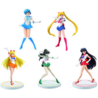 5 Styles Original figure Sailor Moon Mercury Mars Jupiter Venus PVC Action figure with original box gift for boy