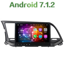 "2 din Android 7.1.2 Quad core 10.1"" 2GB RAM 32GB ROM Multimedia Touch screen car radio player For Hyundai Elantra 2016"