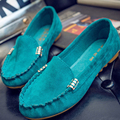 Shoes Woman 2016 Leather Women Shoes Flats Candy Colors Loafers Slip On Women Flat Shoes Moccasins Plus Size