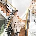 Inverno E Outono Japaness Edição Do Namorado Solto Manguito Estreito Cabeça Pano de Lã Com Capuz Velo Hoodies Inverno Lazer Vagamente