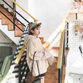 Invierno Y Otoño Japaness Edición De Novio Floja Estrecha Cuff Head Paño De Lana Con Capucha de Lana Ocio Suelta Sudaderas Con Capucha de Invierno