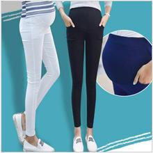 Mummy Maternity Clothes Pregnant Women Pants Adjustable Waist Pure Cotton Summer Autumn Thin Slim Leggings Elastic Pencil Pants