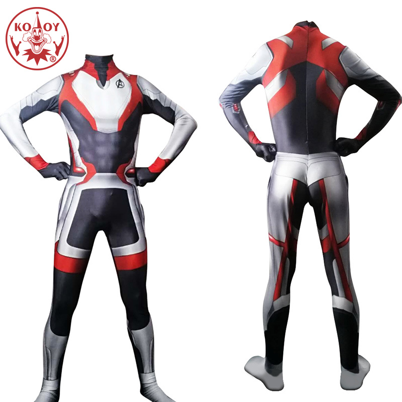 Adult Avengers 4 Endgame Quantum Realm Cosplay Costume Superhero Captain America Iron Man Bodysuits Men Boys Marvel Suit