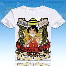 ONE PIECE Luffy Chopper Robin T Shirt Anime Japanese Famous Animation Novelty Summer T-shirt Cosplay Costume Clothing