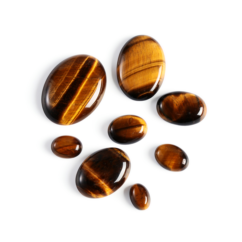 1PC Yellow Tiger Eye Cabochon Bead Natural Stone No Hole Fit DIY Handicrafts Jewelry Women Men Jewelry DIY Accessories
