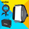 "Godox Adjustable Flash Softbox Kit 60 x 60cm 24"" * 24"" 60cm * 60cm + S type Bracket Mount for Flash Speedlite Studio Shooting"