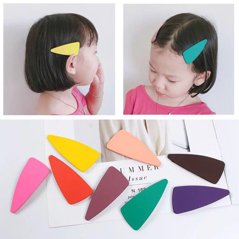 Girls' Clothing 6pieces/bag Versatile Geometric Hairpin Frosted Texture Bangs Bb Hair Ornaments Girls And Fashion Ladies Candy Color Gifts Moderate Cost Accessories