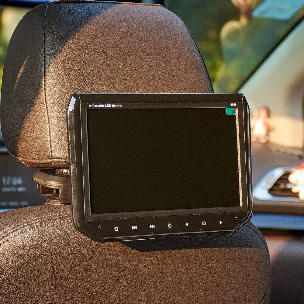 Universel 9 pouces voiture moniteur voiture appui-tête moniteur oreiller LCD écran Auto repose-tête suspendu moniteur support
