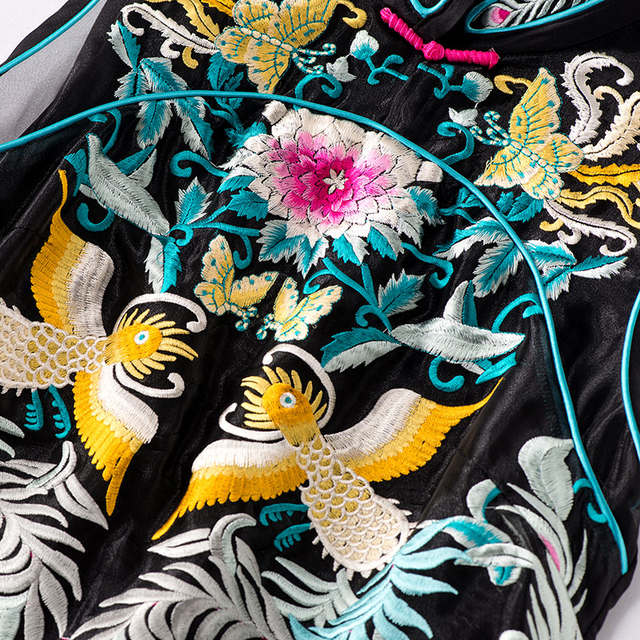 7b6294fd2a925 High end summer women Chinese style floral midi embroidery dress ...