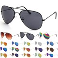 New diseño de gafas de sol gafas reflectantes de color espejo de metal marco de anteojos