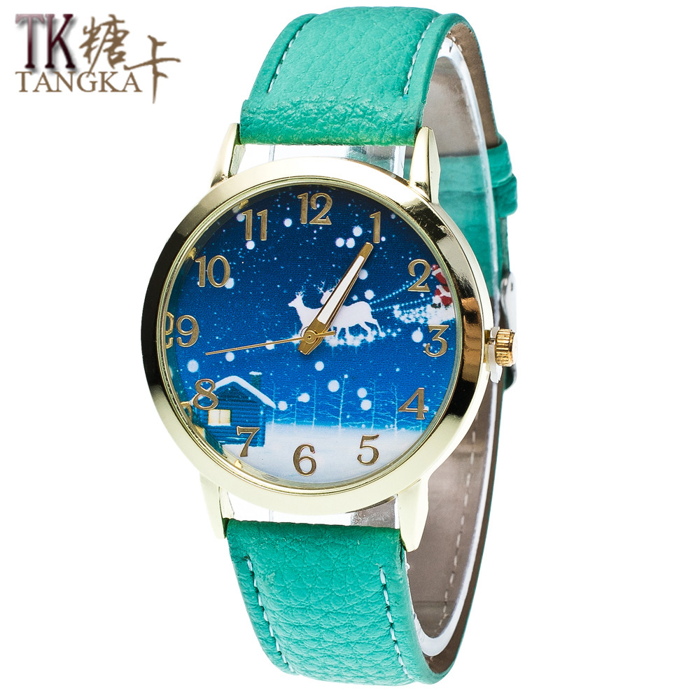 2016 new fashion men and women students watch Christmas Eve Christmas gift ladies watch Quartz watch 2016 aladdin and the magic lamp watch the young men and women fashion quartz pocket watch table birthday gift ds262