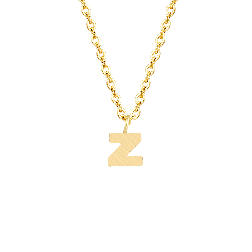 Letter Z Necklace ALP ICFTZWE Link Chain Jewelry Stainless Steel Collier Pendants Vintage 26  Initial Alphabet Chain Letter Z Necklace Women Choker-in Pendant Necklaces  from ...