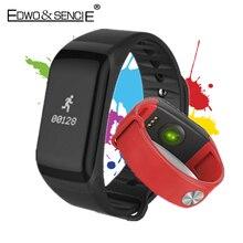 EDWO F1 Smartband Сердечного ритма Монитор Артериального Давления Кислорода Расстояние Bluetooth Спорт Браслет Фитнес-Трекер Смарт-Браслеты