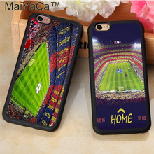 Estadio Camp Nou Barcelona Spain Printed Soft Rubber Phone Case For Fundas iPhone 7 7 Plus 6 6S Plus 5 5S 5C SE 4S Capa Para цена