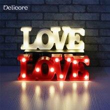 Dekorační světelný nápis LOVE na baterky
