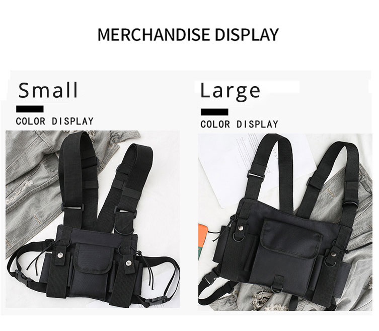 HTB1B23eXYr1gK0jSZFDq6z9yVXac - Functional Tactical Chest Bag For Men Fashion Bullet Hip Hop Vest Streetwear Bag Waist Pack Women Black Chest Rig Bag 233