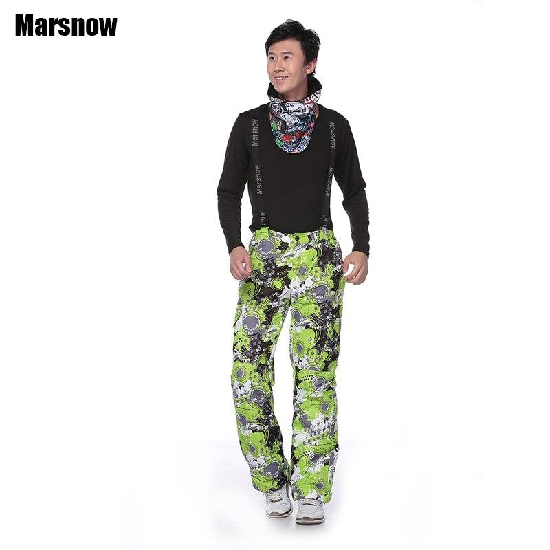 Marsnow thicken Ski pants 30 outdoor waterproof windproof thermal clothing ski pants keep warm winter Snowboard