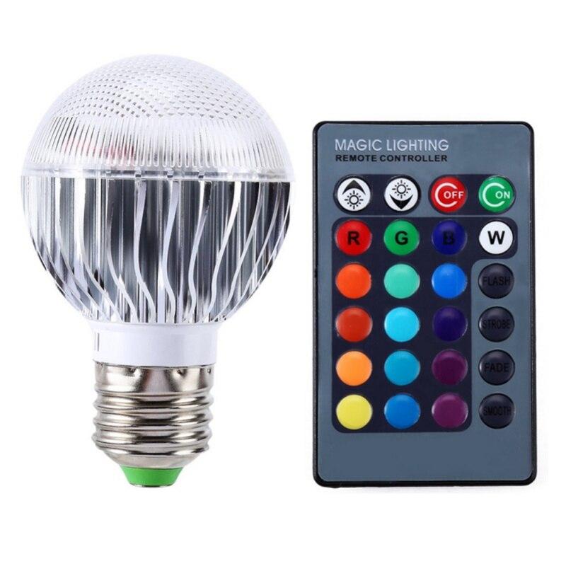 RGB LED Lamp E27 3W 85-265V IR Remote Controller 90 Degree Light LED Bulb Holiday lighting Christmas Home Bar Decoration