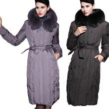 Plus size parka women's winter down jacket long design thicken fox fur collar down jacket winter jacket size M-5XL 6XL