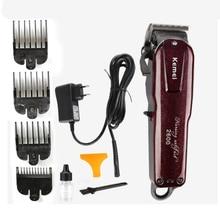 Kemei professional Rechargeable Electric Hair Clipper Trimmer powerful hair clipper hair shaving machine hair cutting bead elect
