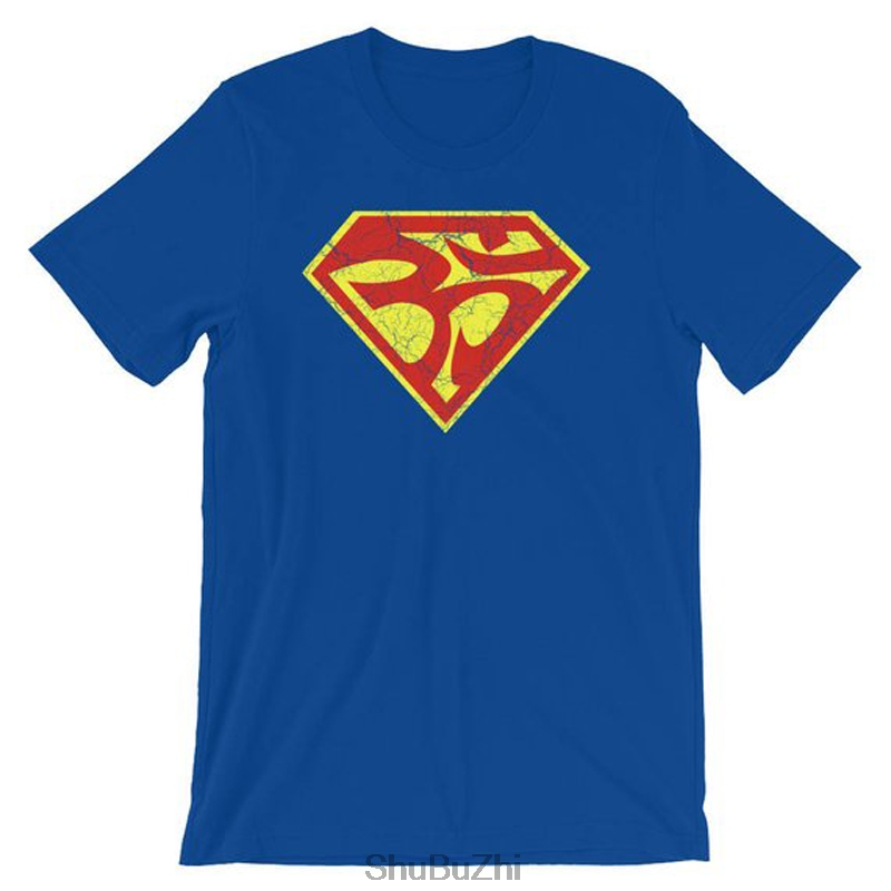 Superman Super Ohm Aum Om Symbol Tshirt - Man of Steel Spiritual Inspired Short-Sleeve Unisex T-Shirt