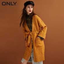ONLY Women's autumn new cuffed color lace-up sweater | 11833B507(China)