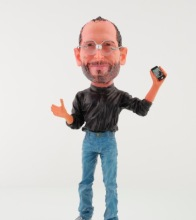 18 cm figure Apple CEO Idol Steve Jobs Resin Material Doll Artificial Sculpture Souvenir Toys gift dolls