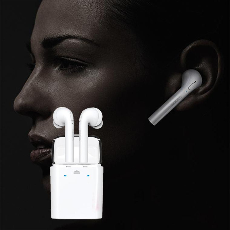 Bluetooth phone headset Earphone cordless Headphones Wireless Bluetooth Stereo Headphone Headset For Apple iphone  2pcs hand free mini auriculares bluetooth stereo headset x5ear earphone phone cordless wireless headphones headphone smart phone
