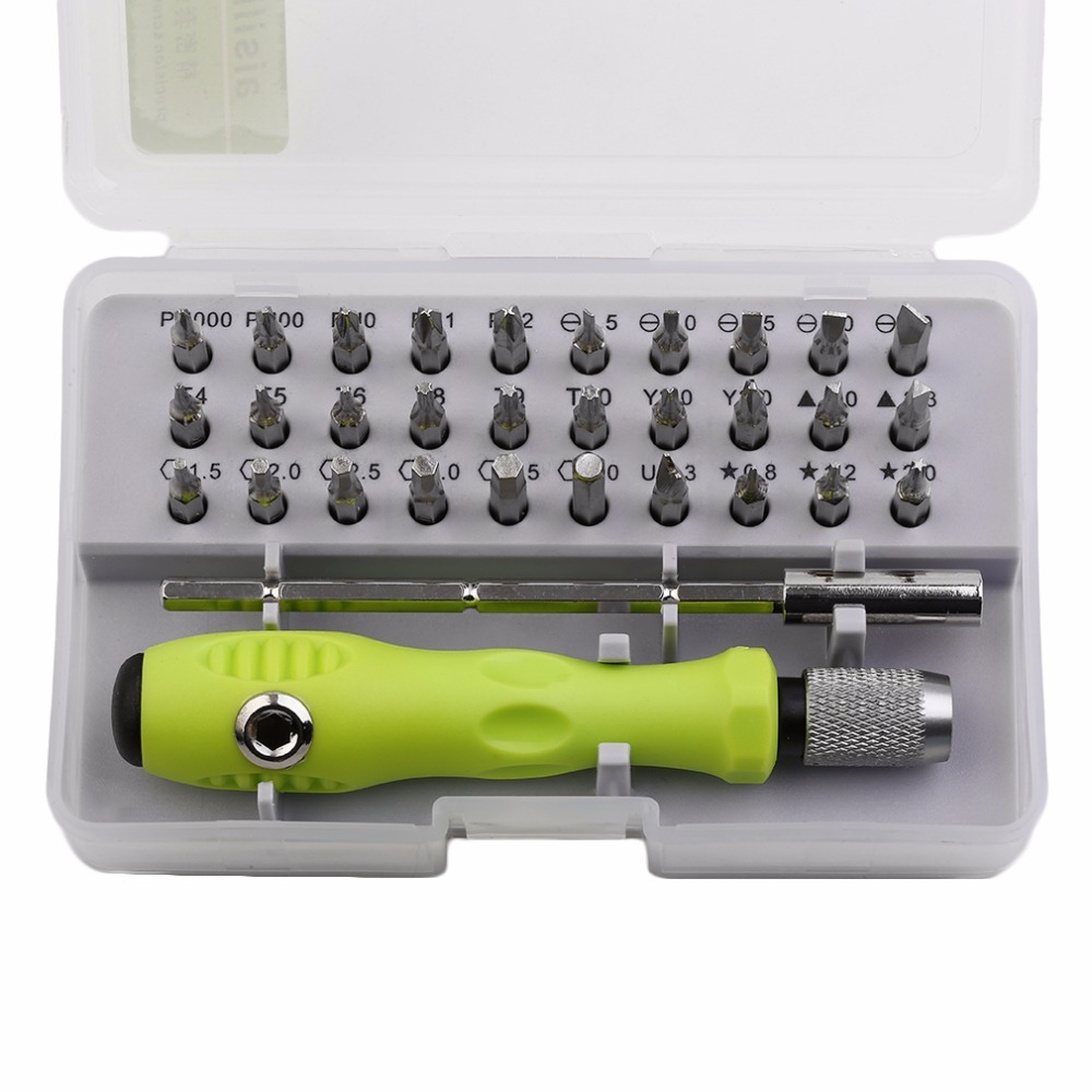 Practical 32 In 1 Multipurpose Precision Screwdriver Set Disassemble Electronic Repair Tools Kit For Cell Phone Laptop Tablet цена