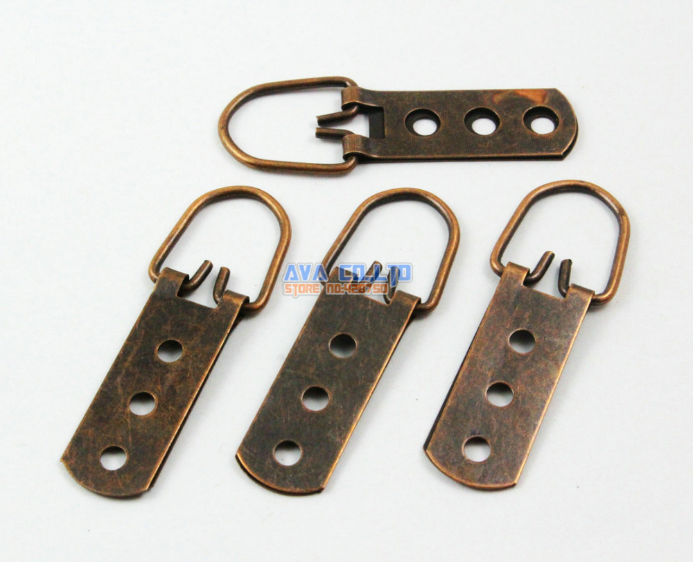 40 Pieces Antique Copper Photo Frame Hook Hanging Photo Frame Hanger 60x15mm 50pcs lot wire hanger fastener hanging photo picture frame quick easy clutch release nickel plate movable head ceiling