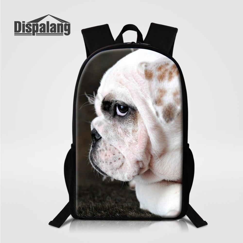 Dispalang Animal Printing Backpack Women Cute Dog School Backpacks for Teenage Girls School Bag Kids Bagpack Female Schoolbag