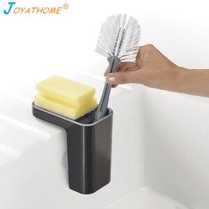 Image 1 - Joyathome cepillo de esponja de cocina estante de almacenamiento fregadero estante de drenaje colgador de trapo cesta de secado organizador de cocina