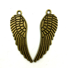 Pendants Fit For Necklaces DIY Jewelry Making Accessrioes Antique Bronze Tone Eagle Hawk Bird Wing Animal Charms 47mm 10Pcs
