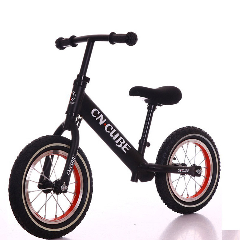Abdo Children Two Wheel Balance Child Walker Portable Eco Friendly Leather Back Seat Bike No Foot Pedal Kids Toy Bicycle