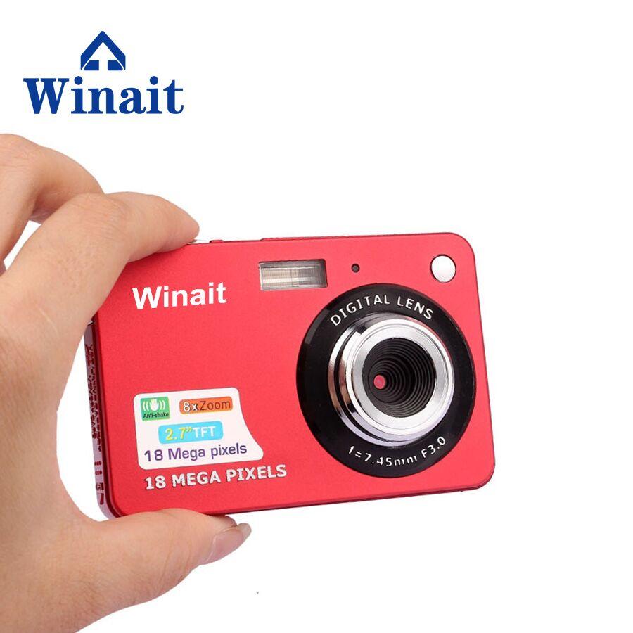 Winait 18Mp Portable Digital Camera HD 720P Mini Cam With 2.7 LCD Display 5.0M CMOS Sensor 8X Digital Zoom Free Ship