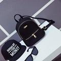 2016 Quente Nova Moda Das Mulheres Ombros Sacos de Moda Simples Doce Cor Coreano Estudantes do Ensino Médio do Sexo Feminino Solid Color Mini Bagpacks
